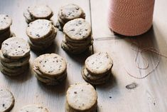 nibby buckwheat butter cookies