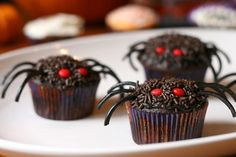 Cute Halloween cup cakes for my grandchildren.