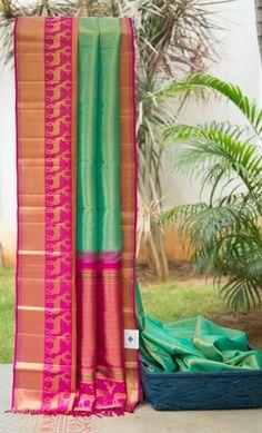Kanchivaram Silk L02155 | Lakshmi Indian Silk Sarees, Indian Bridal Lehenga, Pure Silk Sarees, Cotton Saree, Indian Attire, Indian Ethnic Wear, Indian Dresses, Indian Outfits, Trendy Sarees