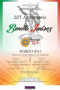 Hoy segundo día de actividades del 9º Festival del Sol, desde las 17:00 hrs, en el Museo de Arqueología de El Chamizal. Evento totalmente Familiar, entrada libre. Con información de W.h. Salazar