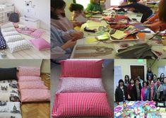 aprende hacer cama de almohadas para sus hijos Ribbon Crafts, Dory, Gift Wrapping, Furniture, Home Decor, Diy, Costumes, Make Curtains, How To Make