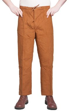 Italian work trousers, flanell, brown, surplus - Varusteleka.fi