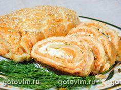 Пирог-рулет с рыбой: рецепт русской кухни