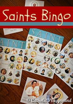This would make an awesome fun family game night ideas at your next church event! :::With tokens and these free printable SAINT Bingo cards, you can add a fun game to your next All Saints' Day party! Catholic Religious Education, Catholic Crafts, Catholic Kids, Catholic School, Religion Activities, Teaching Religion, Saints Game, All Saints Day, Bingo For Kids
