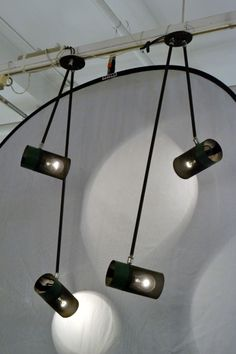 Pair of Boris LaCroix Dual Branch Ceiling Lamps | From a unique collection of antique and modern chandeliers and pendants  at http://www.1stdibs.com/lighting/chandeliers-pendant-lights/