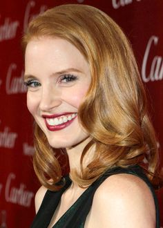 Jessica-Chastain's hair colour is stunning. I just saw her on TV and it is insanely shiny. Beautiful red head.