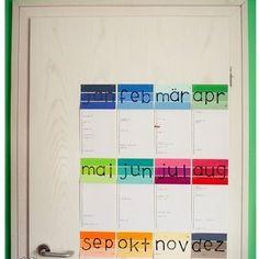 Paint Swatch Birthday Calendar