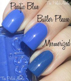 essie+butler+please | Essie+Butler+Please+vs+Sally+Hansen+Pacific+Blue+vs+Essie+Mesmerized ...