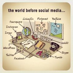 I love this! The world is such a different place with all the social media websites we have available now! The world feels a little bit bigger everyday! :)
