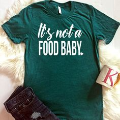 What a super cute way to announce your pregnancy to your family at Thanksgiving dinner <3  It's not a food baby Unisex T-Shirt, Thanksgiving Pregnancy Shirt, Motherhood, Mom Shirt, Trendy Shirt, Gift for Her, Pregnancy Reveal by ShopatBash on Etsy #pregnancyannouncementtoparents, #pregnancyannouncementtofamily,