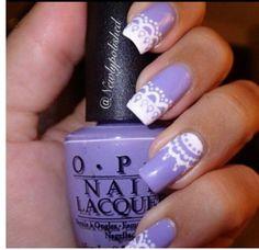 Lace (: #nails #lacenails