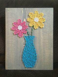 Flower String Art- Order from KiwiStrings on Etsy ( www.KiwiStrings.etsy.com )