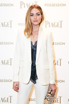 Pin for Later: Oh Olivia Palermo, a Plain White Suit Never Looked So Damn Cool