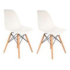 Conjunto 2 Cadeiras Eiffel Eames DSW Branca