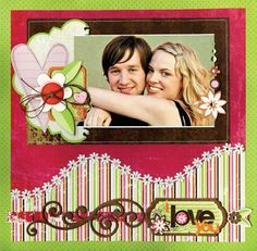Scrapbook#page#layout  Extend a template and add trim.