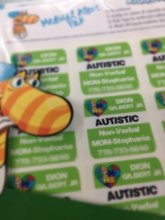 #kiddotags lend a helping hand to those that need it the most. #lovinglabels #autism #labelit