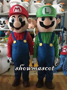 High Quality Mario and Luigi Mascot Costume Cartoon Costume Fancy Dress