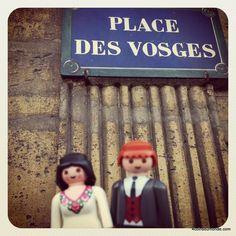 """""""Place des Vosges"""", quartier du Marais, Paris."""