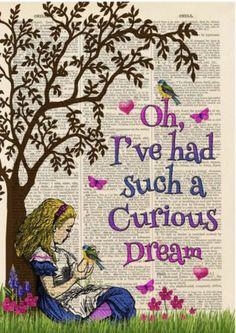 Antique Book Art Prints | Alice in Wonderland