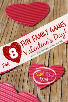 Few materials, lots of creativity and TONS of amazing memories on the way! These games are perfect for your family's Valentine celebration or even class parties!