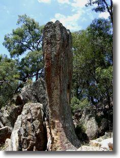 Weathered rocks at The Drip Ulan near Mudgee Australia