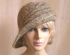 Ava, seagrass side drape millinery hat, womens straw cloche hat