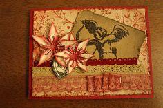 SPLAT PAINT - ART Journaling: valentine card # 4 - SCRAPBOOKING
