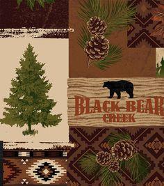 Anti Pill Fleece Fabric 58''-Bear Lake Patch