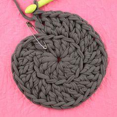 Free Crochet Pattern: POOF! Floor Pillow Pouf Ottoman | Gleeful Things