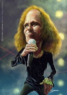 Ronnie James Dio by Priyanka Goswami Hard Rock, Pictures Of Rocks, Create A Comic, James Dio, Biker Tattoos, Celebrity Caricatures, Heavy Metal Music, Making Faces, Matte Painting