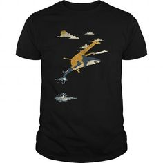 This is a great gift for Giraffe lovers Flying Giraffe Tee Shirts T-Shirts