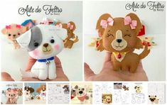 molds to make a felt puppy Felt Animal Patterns, Stuffed Animal Patterns, Applique Patterns, Craft Patterns, Easy Felt Crafts, Felt Ornaments Patterns, American Girl Crafts, Felt Dogs, Felt Christmas Ornaments