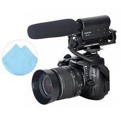 First2savvv SGC-598 Pro DV-Kamera Stereo-Mikrofon für die 3,5 mm Mikrofon MIC-Buchse, passend für Canon Mark IV EOS 1V PowerShot SX40 HS EOS 60Da EOS 5D Mark III EOS 650D EOS 400D EOS 450D EOS 300D PowerShot G1 X EOS EOS-1D C EOS 6D PowerShot SX50 HS Powe