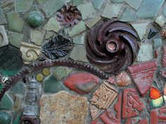 2_DelMar_Library_Wall_tile_brick_rusty_metal