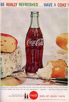 Vintage 1959 Coca Cola Magazine Ad Mid Century Coke Soda Pop Home Decor Frame… Retro Advertising, Retro Ads, Vintage Advertisements, Vintage Ads, Vintage Food, Advertising Signs, Vintage Stuff, Vintage Signs, Vintage Coca Cola