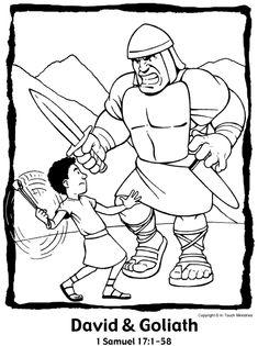 David and Goliath    http://children.pfcblogs.com/bible-stories/david-and-goliath/