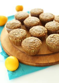 Meyer Lemon Poppy seed Muffins! Moist, tender, citrusy PLUS #VEGAN and 1 BOWL! #minimalistbaker