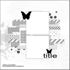 Scrapbook Layout Sketches, 12x12 Scrapbook, Scrapbook Templates, Card Sketches, Scrapbooking Layouts, Sketch 4, Photo Sketch, Sketch Inspiration, Sketch Ideas