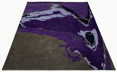 """A custom hand tufted pure wool rug in grey and pruple. It has a pile depth of 12-14mm. Created using the """"Silk"""" design. #CustomRugRoom"""