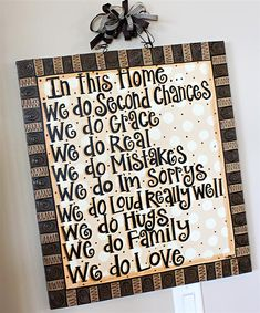 In this home . . . .
