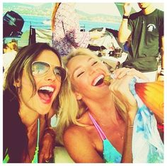 Candice and Alessandra in St. Tropez
