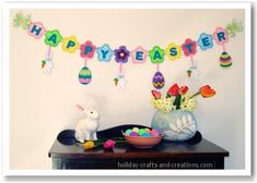 Felt garland - maybe with a child's name and different/no hangie things instead?