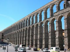 Arch: Roman aqueduct in Segovia, Spain culture geography science world life art education writing research travel holiday books knowledge facts nature places countries cities towns villages continents tourism vacation entertainment newspapers magazines ar Neoclassical Architecture, Roman Architecture, Landscape Architecture, Ancient Architecture, Opus Caementicium, Roman Concrete, Spain Culture, Roman Republic, Roman Empire