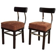 The Heisler chair was designed by Lajos (Ludwig) Kozma and manufactured by József Heisler's woodworking factory. It was first shown at The Budapest Furniture Fair in the fall of Bar Chairs, Side Chairs, Woodworking Factory, Modern Chairs, Furniture Decor, Antiques, Budapest, Envy, Vintage