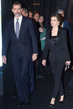 King Felipe VI of Spain and Queen Letizia of Spain attended to Antena3's 25th anniversary party at Palacio de Cibeles on 29.01.2015 in Madrid