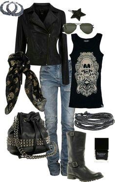 Sexy biker clothing
