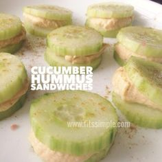 PiYo Meals and Recipes Cucumber Hummus Sandwiches are a great way to get in your Primary Vegetable with a Healthy Fat as part of the PiYo Meal Plan!