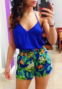 50 Summer Outfits Worth Copying - Page 2 of 3 - Wachabuy Cancun Outfits, Cruise Outfits, Spring Outfits, Summer Wear, Spring Summer Fashion, Spring Break, Summer Time, Estilo Boyish, Tropical Outfit