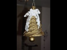 Glocke aus Röllchen Papier Basteln - YouTube