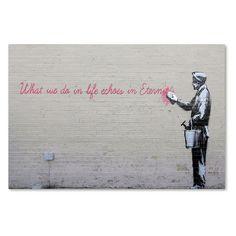 Trademark Global Banksy 'Echoes' Canvas Art (27), Buff Biege